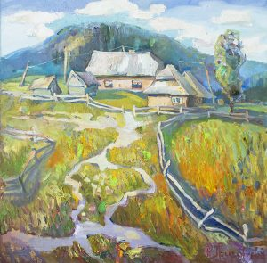 Carpathian ranch 70x70cm/oil on canvas/2016