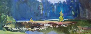Lake of love 34x89cm/ oil on canvas/ 2016